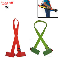 Ski snowboard easy handbag cross country Ski Pole Shoulder Carrier Strap bag Green and red