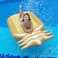 180*90*20CM Giant Inflatable Golden Pineapple Pool Float For Women Men Fruit Swimming Ring Water Toys Beach Lounger Air Mattress(China)