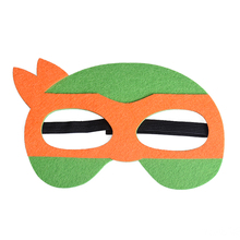 Orange TMNT Masks Superhero Ninja Turtle Masks Halloween Costumes Festival Children's Day Birthday Party Supplies For Friends