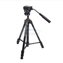 Kingjoy VT-1500 Popular Cheap Light Weight 3 Section Flip Lock Video Tripod with Fluid Damping Head for Camcorder For Promotion(China)