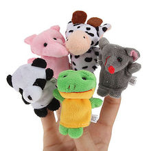 10PCS Farm Zoo Animal Finger Puppets Toys Boys Girls Babys Party Bag Filler NEW party gift