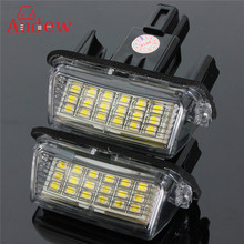 Buy 2Pcs Error Free 18 LED License Number Plate Light Bulb Car Light Fit Toyota/Camry/Yaris/Hybrid for $8.88 in AliExpress store