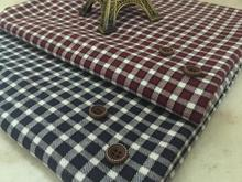 pf43 TWILL Sanded Cotton fabric cloth textile tartan small square winter coat fabric retail or wholesale 50cm x 145cm