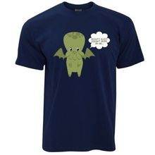 Summer Hipster Casual Men O-Neck Beaute Sommeil N'est Pas Details Sur Me Cute Dessinee A La Main Cthulhu Short-Sleeve Tee Shirts