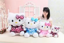 lovely beautiful skirt hello kitty plush toy soft cat Toy throw pillow, birthday gift w0907(China)