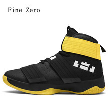 Fine Zero 2017 Men's Basketball Shoes Air Damping Men Sports Sneakers High Top Breathable Trainers Leather Men Outdoor high tops(China)