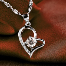 LIAMTING Newest 100% 925 Sterling Silver Heart Pendants Necklace Women Jewelry Wholesale With 5A Cubic Zircon Pendant VA161