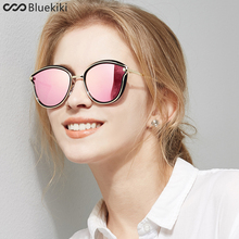 KIKI 2017 Women Polarized Sunglasses Cat eye Brand Designer Sun Glasses Steampunk lentes de sol mujer Driving Zonnebril Dames(China)