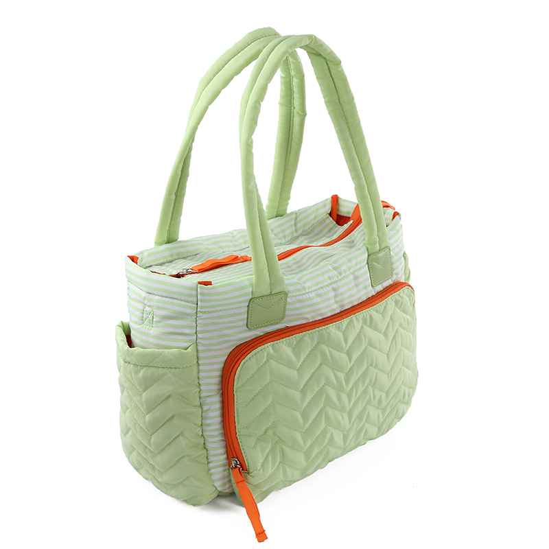 Stripe Large Bag Women Mummy duffel bag High quality baby Diaper Bag with Pad  mommy Baby Nappy Care maternity mom Travel   ECOMOVE PRODUCTS e6bded2b8b