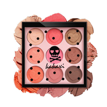 Brand Pink Skull Color Eyes Makeup 9 Colours Eyeshadow Palette Heart-shaped Matte Eye Shadow Shimmer Pigments Natural