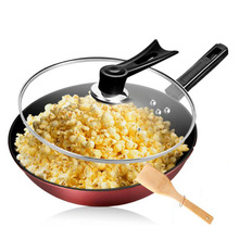 281201/fry pot/Iron pan frying pan/No coating/No oil fumes/non-stick pan/Design of lotus leaf non - stick pan/can popcorn
