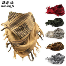 100% Cotton Thick Muslim Hijab Shemagh Tactical Desert  Arab Scarves Men Winter Military Windproof Scarf