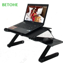 BETOHE Multi Functional Ergonomic laptop table stand for bed Portable sofa laptop table foldable notebook Desk with mouse pad
