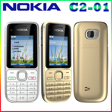C2-01 Original Unlocked Nokia C2-01 1020mAh 3.15MP 3G Support Englihs/Russian/Hebrew/Arabic Keyboard / Cellphone Free Shipping