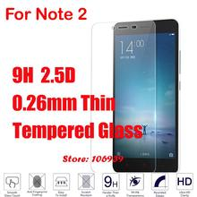 Explosion Proof Cheap New 9H Hard 2.5D 0.26mm Phone Accessories Cell Glass Screen Protector For Xiaomi Redmi Note 2 Note2