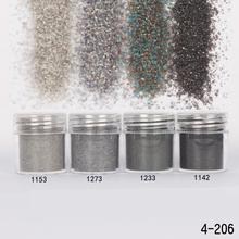 1Box Gray Night Dazzling Finest Nail Sugar Glitter Powder Acrylic Powder Sheets Nail Dust Tips 3D Nail Art Decoration10ML(China)
