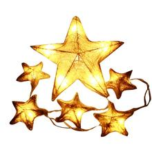 House LC New 6 LED Star Shape Window Curtain Lights String Lamp House Party Decor Striking 17Nov29 Drop Ship F(China)