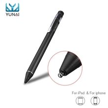 Yunai Universal Capacitive Stylus Pen For iPad Tablet Active Touch Pen Mobile Phone Stylus For Iphone 7 7s For Samsung