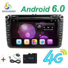 Android 6.0 2 DIN Car DVD player For VW Volkswagen Passat POLO GOLF Tiguan CC Skoda Fabia Rapid Yet Seat Leon GPS Radio screen