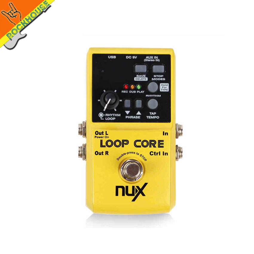 NUX loop core looper Guitar Effect Pedal 6 Hours Recording Time Built-in Drum Patterns circle infinite free shipping<br><br>Aliexpress