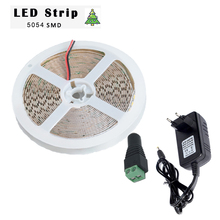DC 12V LED Strip Lights 5054 SMD Flexible LED Light 60 LEDs/m 120leds/m 5m/lot 5054 Lamp Tape+EU/US 3A Power Supplier Adapter+DC(China)