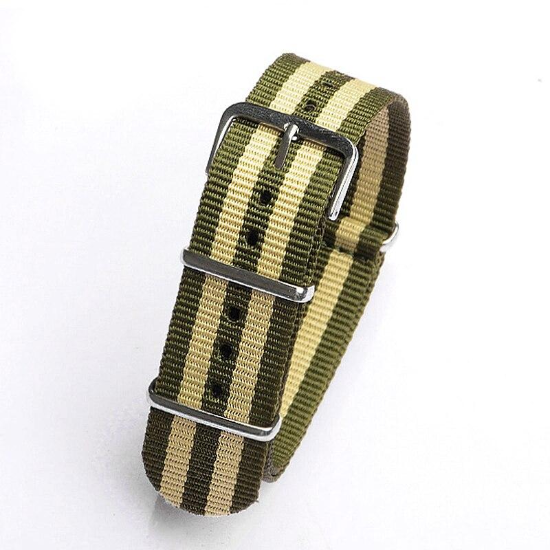 22mm green beige green Sport nato fabric watch band straps accessories Bands nylon watchband steel Buckle belt<br><br>Aliexpress