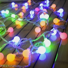 luminaria Battery 20 LED Cherry Balls String lights Christmas Fairy lights for Home outdoor/Wedding Party Garland Decorations