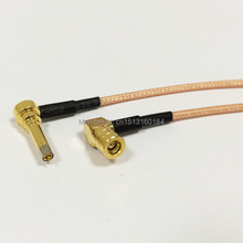 "New SMB Female Jack  Right  Angle  To  MS156  Right  Angle Connector RG316 Coaxial Cable 15CM 6"" Modem Extension Cable"