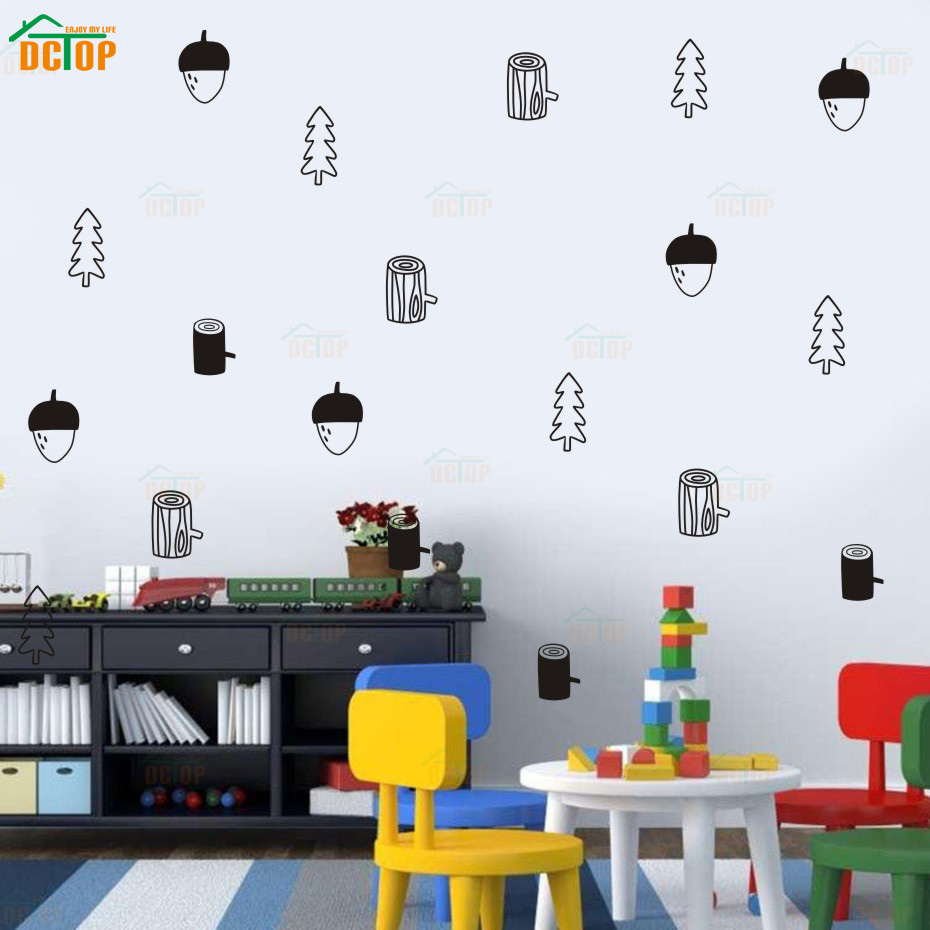 DIY Pine Cone Styling Vinyl Wall Sticker Funny Wall Stickers For Kids Rooms Children Room Decoration Mural Child Stickers (4)