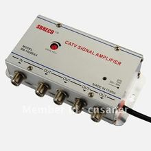Seebest Cable TV Signal Amplifier Splitter Booster CATV amplifier 4 Output 20DB SB-1020S8/EK4