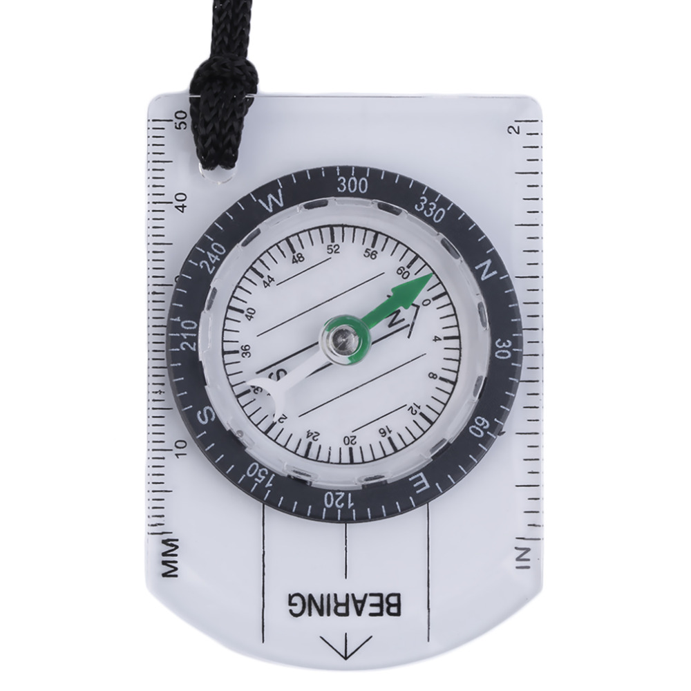 Mini Baseplate Compass Map Scale Ruler Outdoor Camping Hiking Cycling Scouts Military Compass free shipping<br><br>Aliexpress