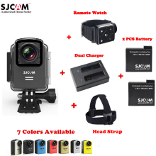 100% Original SJCAM M20 Wifi 30M Waterproof Sports Action Camera Sj Cam DVR+2 Extra Battery+Dual Charger+Remote Watch+Head Strap