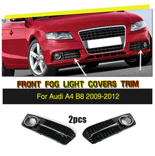A4 B8 Sedan 4-Door ABS Auto Side Fog Light Cover Trims for Audi A4 B8 Standard 2009-2012 2pcs/set ( Non Sline )