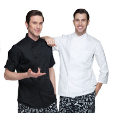 New Chef Aprons spring and summer Western hotel kitchen clothes for men and women long-sleeved chef uniforms(China)