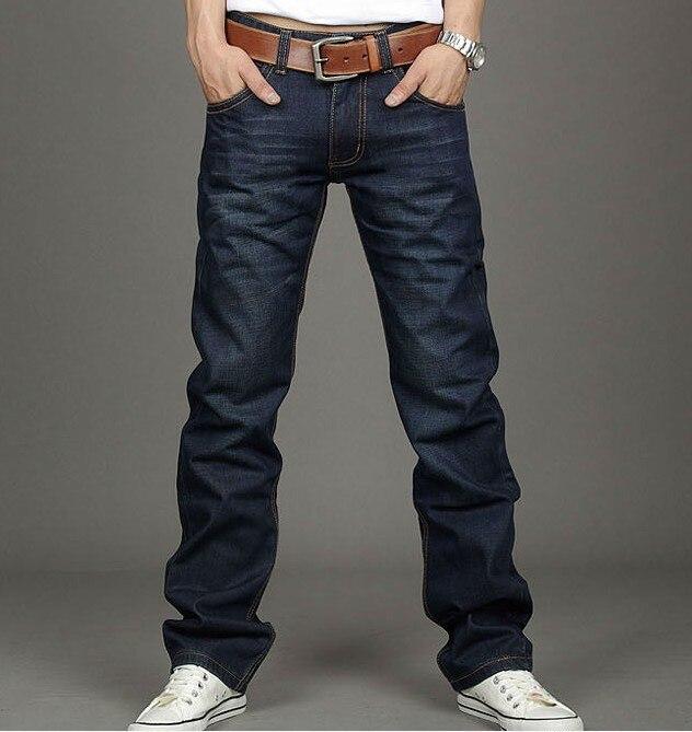 jeans men High quality straight jeans famous brand men pants male cotton fashion jean pantalones vaqueros hombr boyОдежда и ак�е��уары<br><br><br>Aliexpress