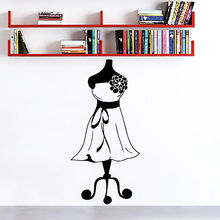 Wall Decals Dress Girl Mannequin Seamstress Fashion Vinyl Sticker Decor