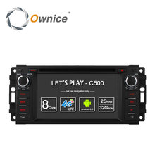 Ownice C500 Android 6.0 Octa Core car dvd player for Jeep grand wrangler 2015 patriot compass journey gps navi radio 4G LTE SIM