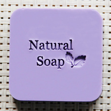 Natural Handmade Soap Seal Stamp Leaf Pattern Acrylic Mold Chapter(China)
