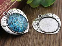 Buy New Fashion 5pcs 25mm Inner Size Antique Silver Love Cameo Cabochon Base Setting Charms Pendant (A5-19) for $1.28 in AliExpress store
