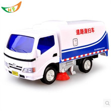 Water sprinkler crane dump-car city sanitation road sweeper engineering scania truck model toys kids