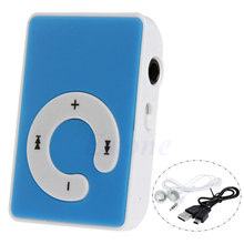 Mini Clip USB Digital Mp3 Music Player Support 32GB Micro SD TF Card + Earphone(China)