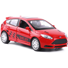 1:32 car models for Ford Focus Alloy Diecast Car Model Pull Back Toy Car model Electronic Car with light&sound Kids Toys Gift