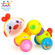 HUILE TOYS 997 Baby Toys Electric Toy Educational Musical Inchworm With Light Twist Press & Go Inchworm Developmental Baby Toys(China)