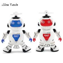 Model robot Electronic Walking Dancing Robot Smart Space Robot Astronaut Kids Music Light Toys freeshipping(China)