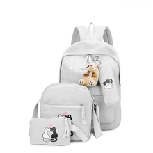 5 Sets Girl Backpacks Woman Canvas School Bags Students Backpack for Teenager Book Bag Mochila Kids Schoolbag HOT SELLING