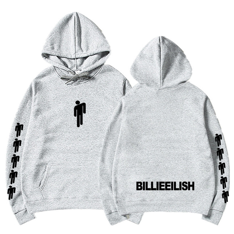 New Hot Billie Eilish Hoodie Men Black Cotton Hoodie Couple Billie Eilish Sweatshirt Simple Keep Warm Women/men Hoodie Clothes 18