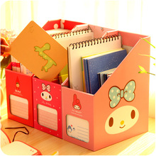 Various Cartoon Style Office Organizer Home Decor Schoolroom Bedroom Desktop Fashion Stationery Storage Boxes