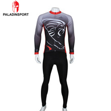 Paladin Men Lion Green Horse Eagle Cycling Jersey Tops + Pants Clothing Set Bicycle Sport Long Sleeve Clothes Roupa Ciclismo