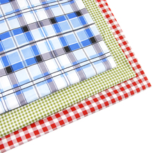 50*147CM plaid patchwork printed 100 percent cotton fabric for Tissue Kids Bedding home textile for Sewing Tilda Doll,c771(China)