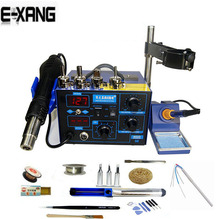 NEW Saike 952D Hot Air Gun + Soldering Iron 2in1 Power 760W BGA rework station welding table ,Many gifts
